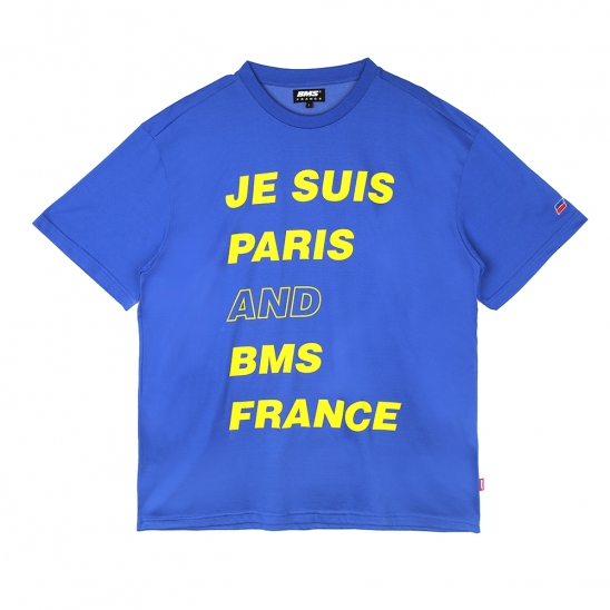 BMS PARIS Overfit T-shirts - 오버핏반팔티 - blue (GEZ2285_44)