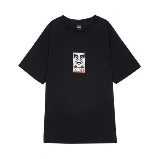 OBEY ICON FACE OFF BLACK