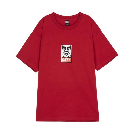 OBEY ICON FACE FIRE RED