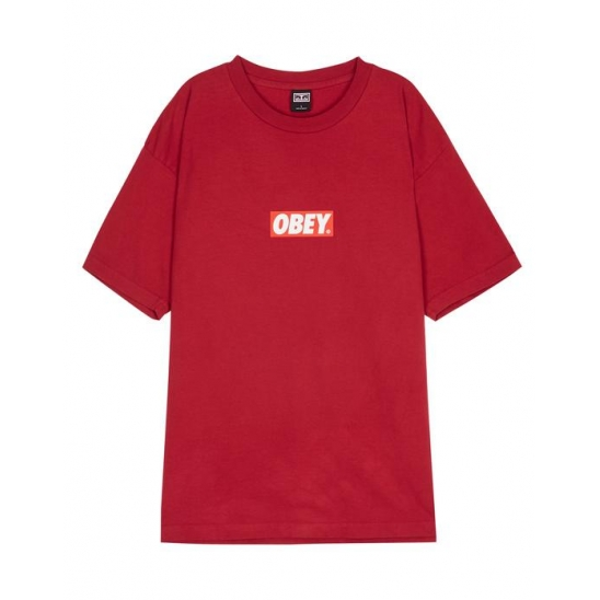 OBEY BAR LOGO FIRE RED