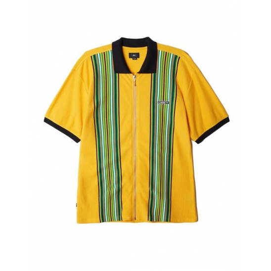 KELLY CLASSIC ZIP POLO SS ENERGY YELLOW MULTI