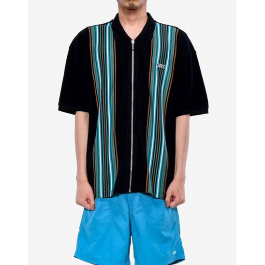 KELLY CLASSIC ZIP POLO SS BLACK MULTI