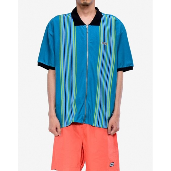 KELLY CLASSIC ZIP POLO SS TEAL MULTI