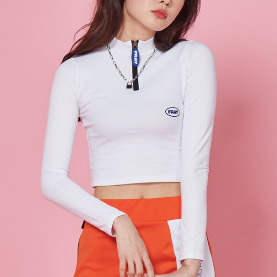 FRAY LONG SLEEVE TOP - WHITE