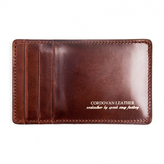 212# Y CARD WALLET- RIGID CORDOVAN