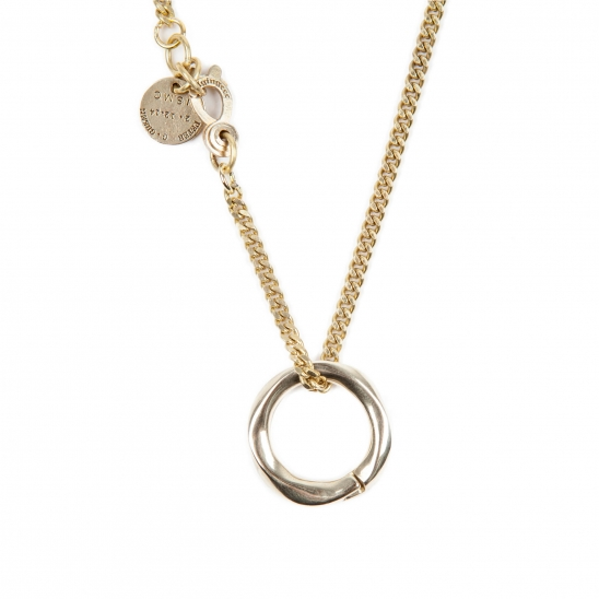 256# SOLIDBRASS RING NECKLACE