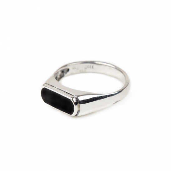 224# 92.5 SILVER ONYX RING-OR