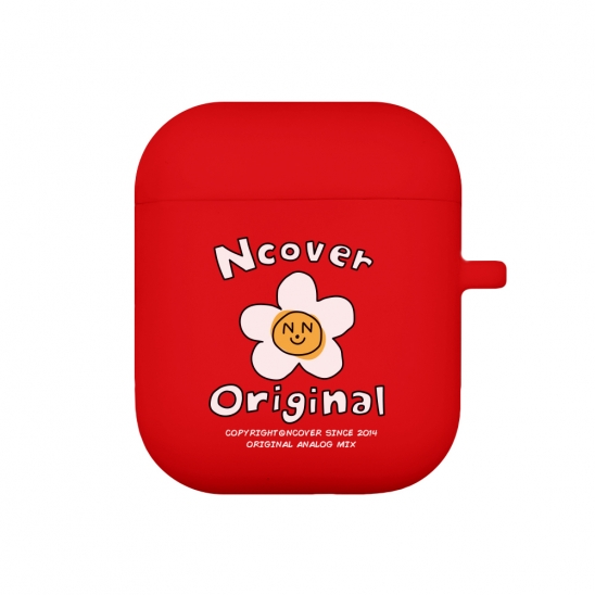 Flower graphic-red(airpods jelly case)