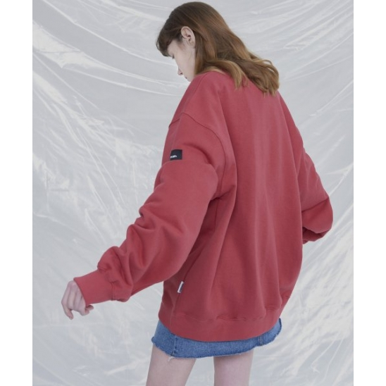 [UNISEX]THE OTHER BASIC OVERFIT SWEATSHIRTS (SPICED CORAL)