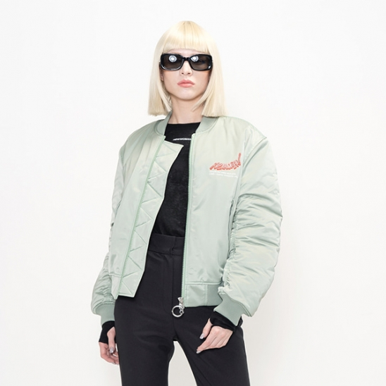 NEWWOMAN BOMBER JACKET(LIGHT GREEN) -[MM-JK-109]