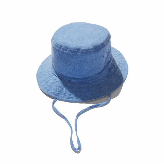 Napping reversible bucket hat (Ivory&Blue)