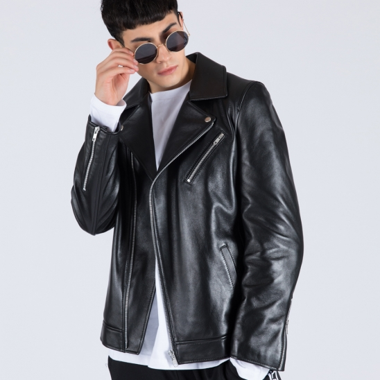 M.REAL LAMBSKIN RIDERs JACKET (BLACK)