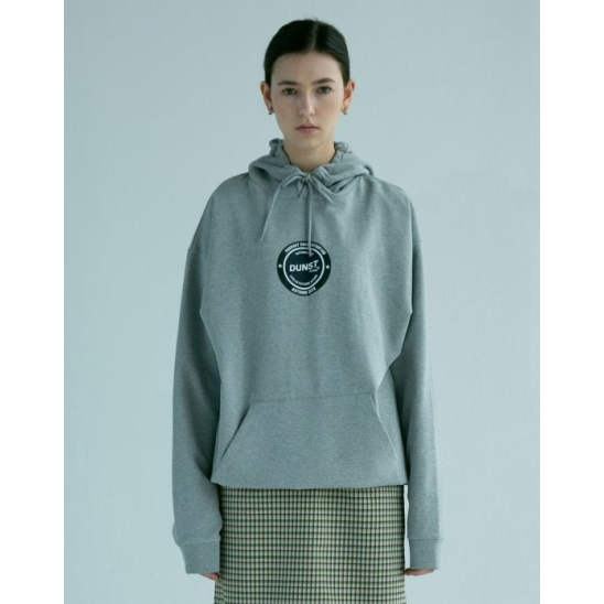 UNISEX NEWTRI CIRCLE GRAPHIC HOODIE MELANGE GREY