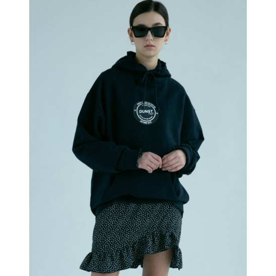 UNISEX NEWTRI CIRCLE GRAPHIC HOODIE DARK NAVY