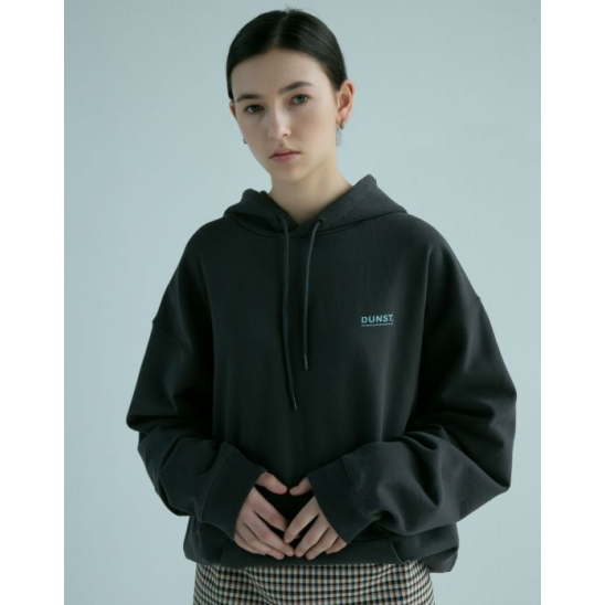 UNISEX DIAG LOGO HOODIE CHARCOAL