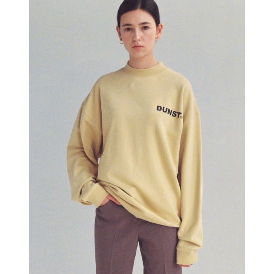 UNISEX MOCK-NECK LOGO SWEATSHIRT YELLOW