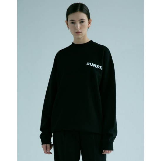 UNISEX MOCK-NECK LOGO SWEATSHIRT BLACK