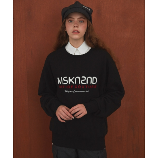 OFFICE COUTURE LOGO SWEATSHIRT BLACK