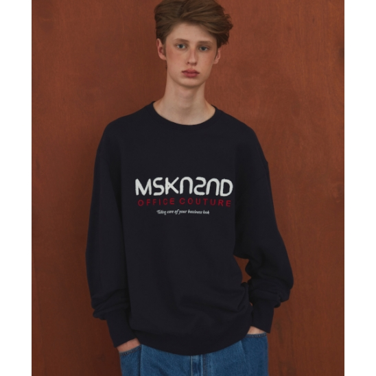 OFFICE COUTURE LOGO SWEATSHIRT NAVY
