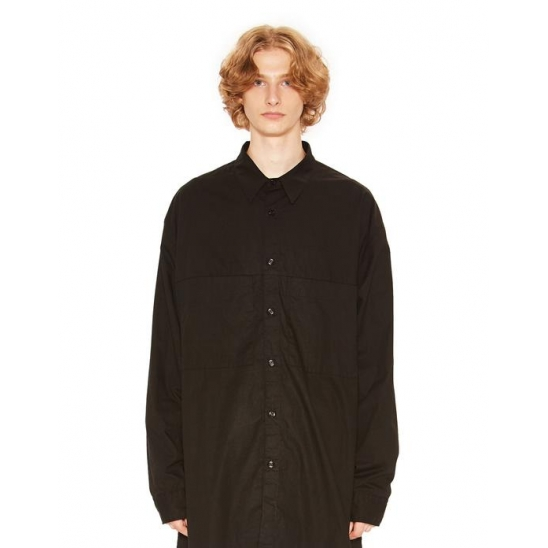 TWO POCKET LONG SHIRT black