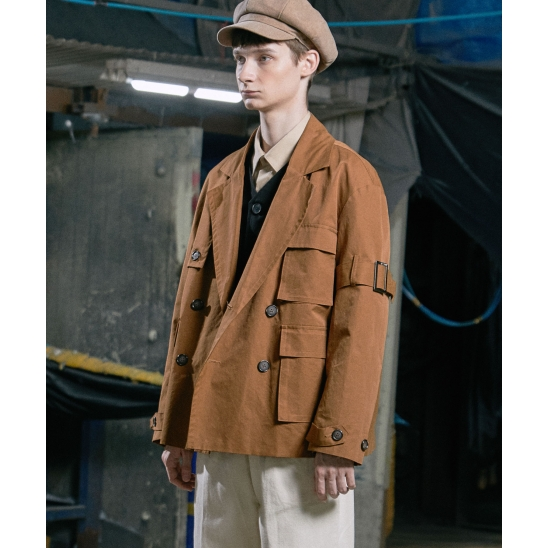 LE MANS SHORT TRENCH COAT (LIGHT BROWN)