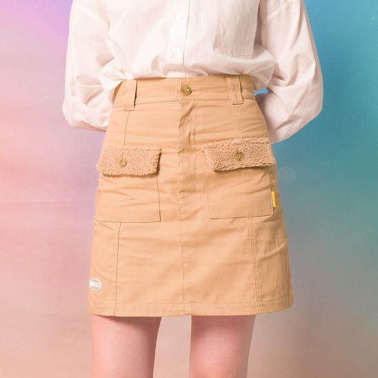 9F Mini Skirt(BEIGE)