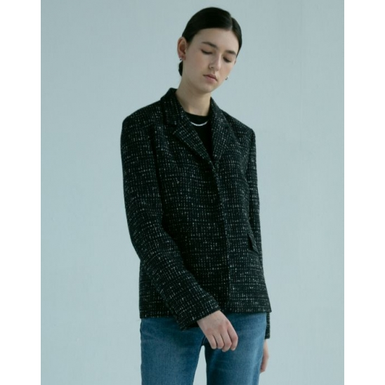TWEED SINGLE JACKET (BLACK)