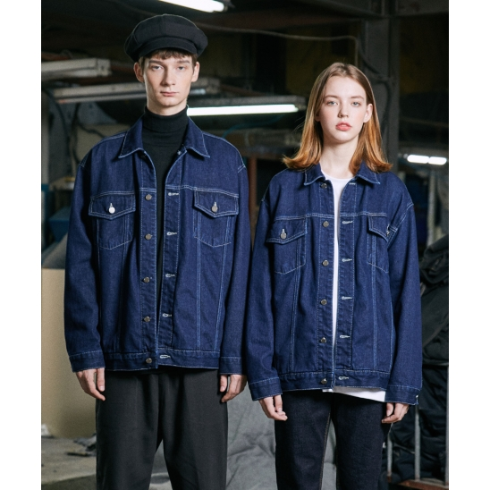 EDGE STANDARD TRUCKER JACKET (INDIGO)