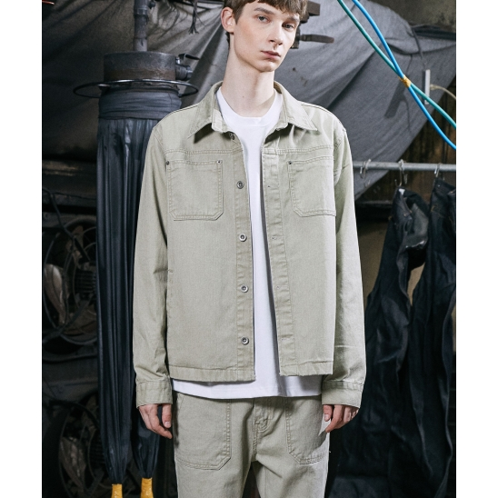 FORCE LIP POCKET JACKET (LIGHT KHAKI)