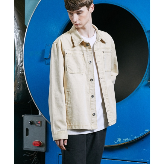 FORCE LIP POCKET JACKET (LIGHT BEIGE)
