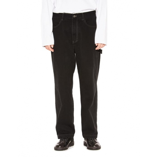 WASHED WORK PANTS black