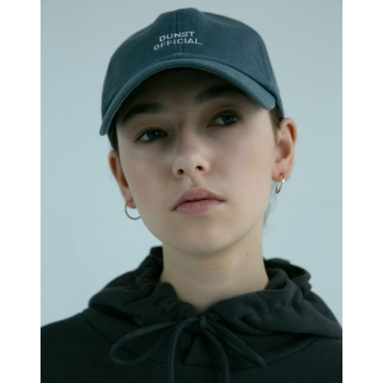 UNISEX LOGO EMBROIDERED BALLCAP GREYISH BLUE