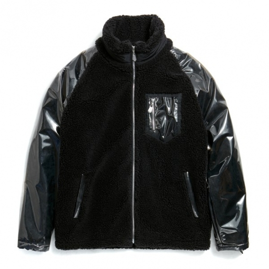 PVC FLEECE JACKET (BLACK)