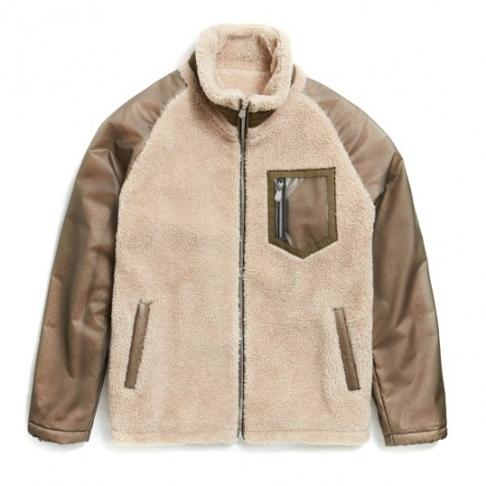PVC FLEECE JACKET (BEIGE)