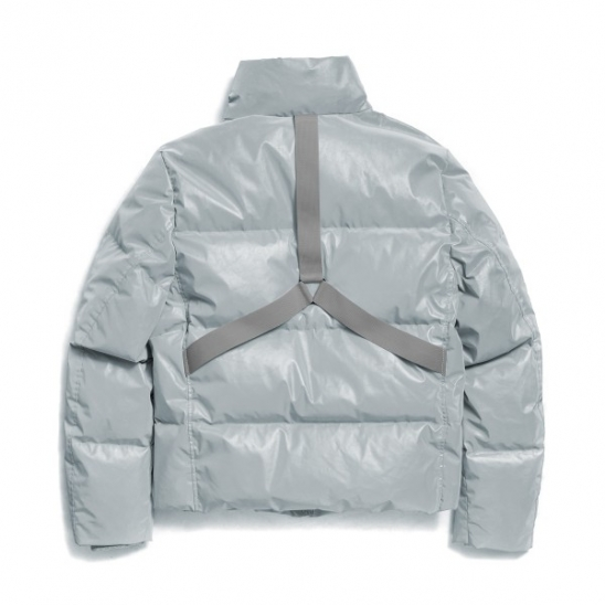 REFLECTIVE HARNESS DOWN JACKET (GREY)