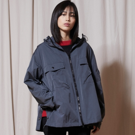 OL146_URBAN Windbreak Jacket_Charcoal