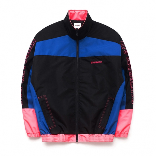 IG Retro Track Jacket (Black/Blue/Pink)