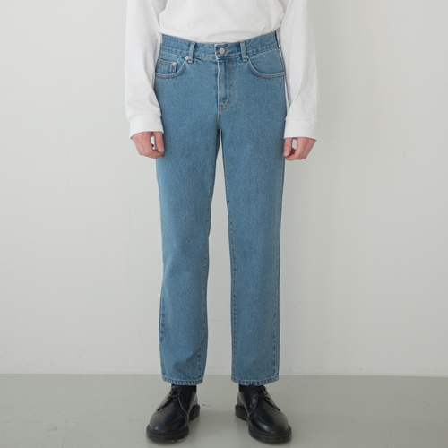 SOFT WIDE H LINE JEANS BLUE