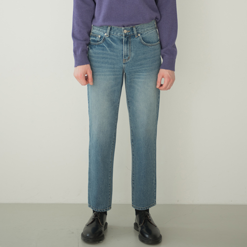 SOFT WIDE H LINE JEANS B.BLUE