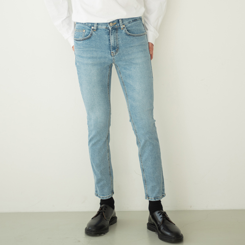 9th year #201SP CROP JEANS BLUE