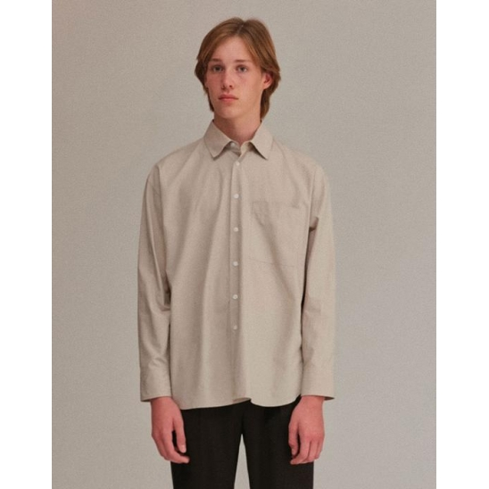 OVERFIT SHIRTS MEN [BEIGE]