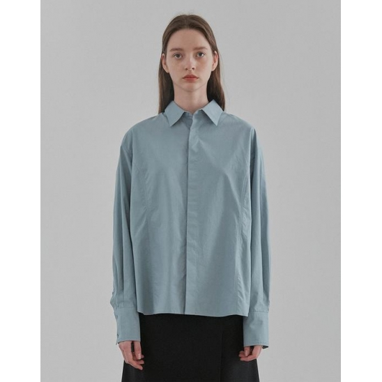 LINE SHIRTS WOMEN [LIGHT  BLUE]