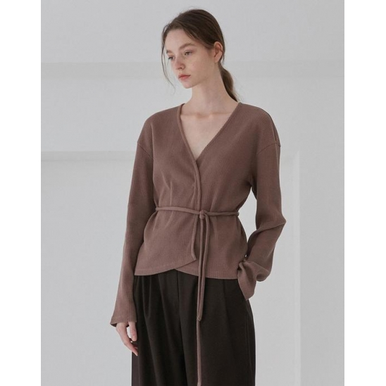 WRAP CARDIGANS WOMEN [BROWN]