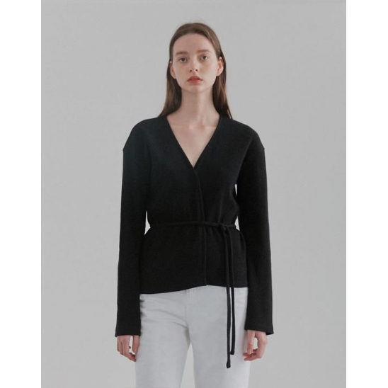 WRAP CARDIGANS WOMEN [BLACK]