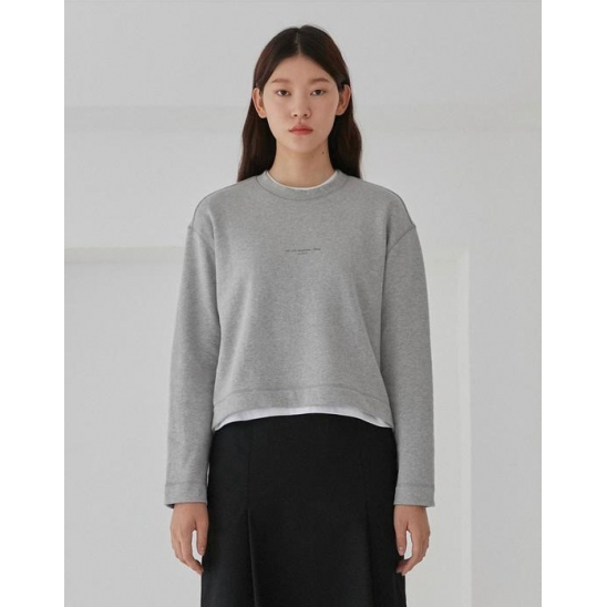 GRAPHIC SWEATSHIRTS WOMEN [MELANGE GREY]