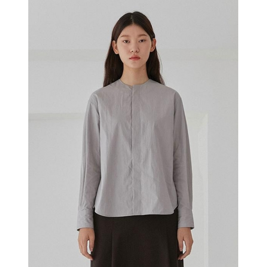 ROUND BLOUSE WOMEN [GREY]