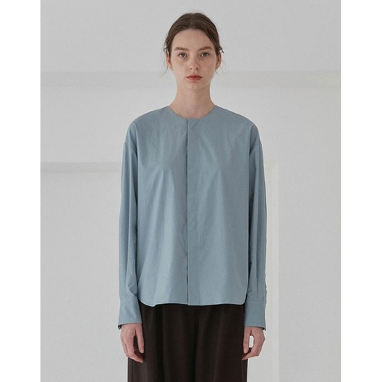 ROUND BLOUSE WOMEN [LIGHT BLUE]
