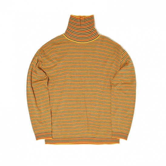 STRIPTED KNIT TURTLENECK (YELLOW)