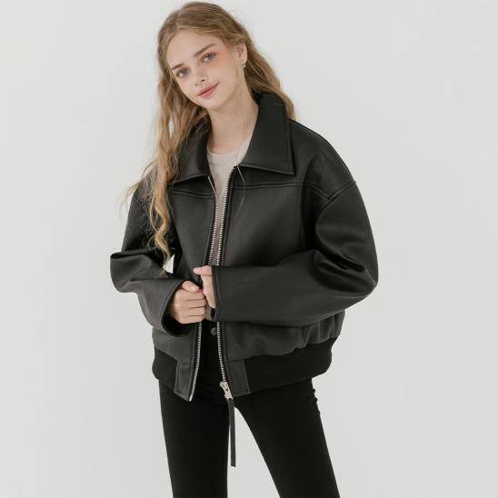 LV New overfit leather blouson
