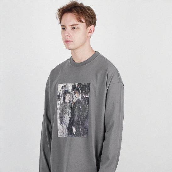 LONGSLEEVES famous painting TEE 다크그레이